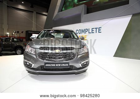 Bangkok - August 4: Chevrolet Amazing New Cruze  Car On Display At Big Motor Sale On August 4, 2015