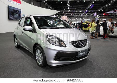 Bangkok - August 4: Honda Brio Car On Display At Big Motor Sale On August 4, 2015 In Bangkok, Thaila