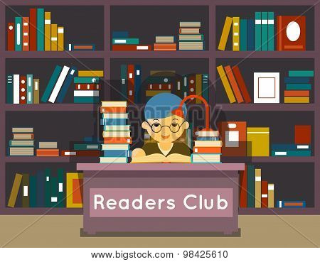 Readers club. Education and love of reading concept