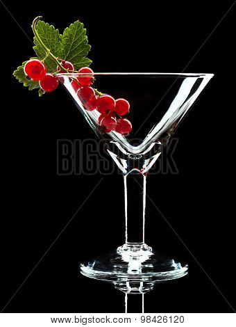 Red Currant And Leaf In Wineglass