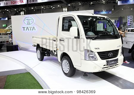 Bangkok - August 4: Tata Super Ace Mint Car On Display At Big Motor Sale On August 4, 2015 In Bangko