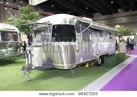 Bangkok - August 4:airstream Classic Car On Display At Big Motor Sale On August 4, 2015 In Bangkok,