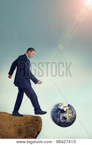 Unsustainable Business Concept Global Environmental Destruction