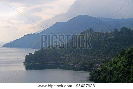 view of lake Toba, the north Sumatra