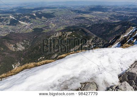 View Of The Town Of Zakopane Tatra Peak