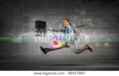 Full speed businessman