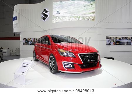 Bangkok - August 4: Suzuki Ciaz Car On Display At Big Motor Sale On August 4, 2015 In Bangkok, Thail
