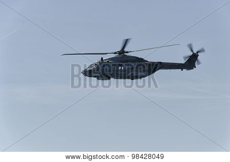 View Of Helicopter Of The Navy
