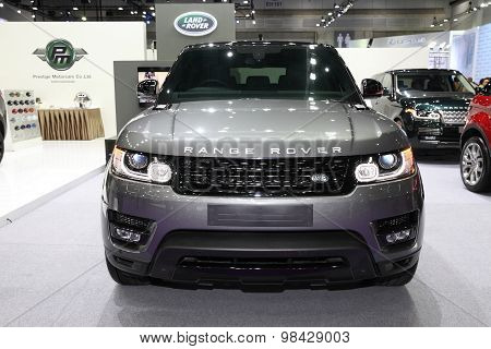 Bangkok - August 4: Range Rover Car On Display At Big Motor Sale On August 4, 2015 In Bangkok, Thail