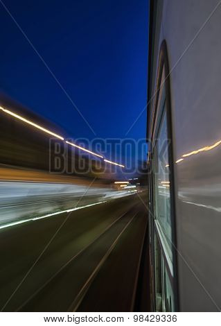 View Of The Speed Of The Train