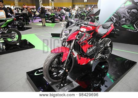 Bangkok - August 4: Kawasaki Z 250 Sl Motorcycle On Display At Big Motor Sale On August 4, 2015 In B