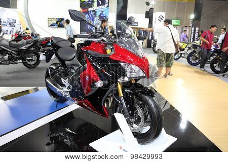 Bangkok - August 4: Suzuki Gsx-s 1000F  Motorcycle On Display At Big Motor Sale On August 4, 2015 In
