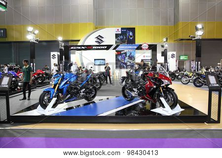 Bangkok - August 4: Showroom Of Suzuki Motorcycle At Big Motor Sale On August 4, 2015 In Bangkok, Th