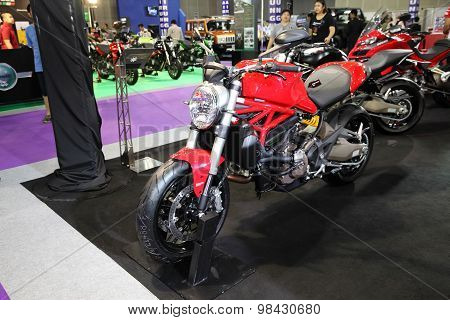 Bangkok - August 4: Ducati Monster Motorcycle On Display At Big Motor Sale On August 4, 2015 In Bang
