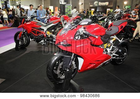 Bangkok - August 4: Ducati 899 Panigale  Motorcycle On Display At Big Motor Sale On August 4, 2015 I