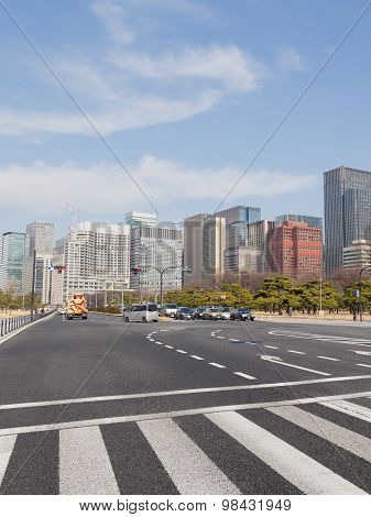 Road Markings In Tokyo