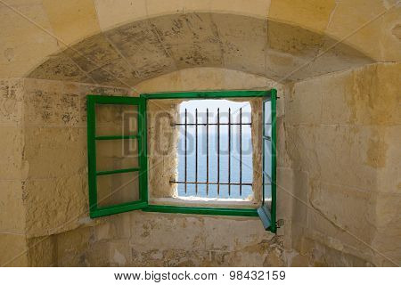 The open window with sea view