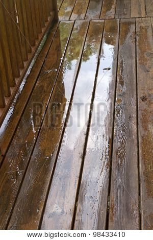 Weathered Wood Deck Close Up