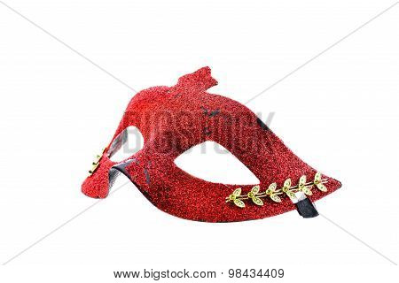 Red Mask On White Background