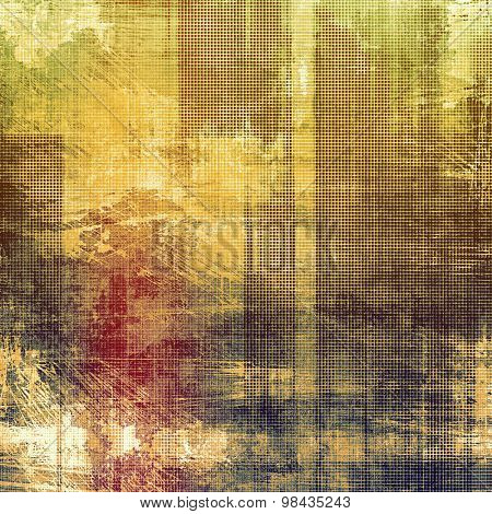 Retro background with grunge texture. With different color patterns: yellow (beige); brown; green; pink