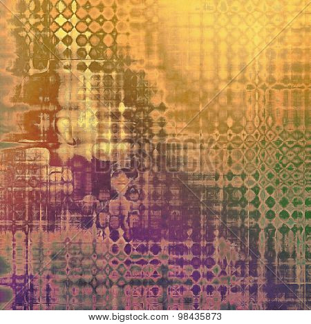 Abstract rough grunge background, colorful texture. With different color patterns: yellow (beige); brown; green; purple (violet)