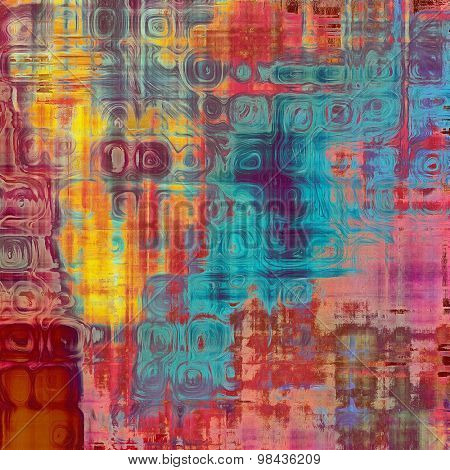 Old ancient texture, may be used as abstract grunge background. With different color patterns: yellow (beige); blue; red (orange); purple (violet); pink
