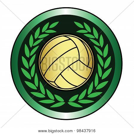 Golden volleyball icon