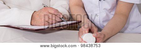 Elder Man And Pills