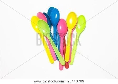 Small plastic spoons