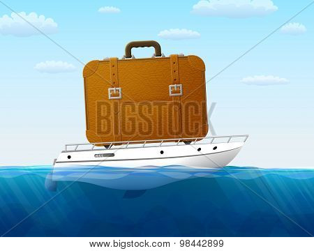 Concept Of Cruise Traveling By Sea