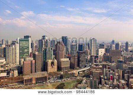 Osaka Cityscape From Above