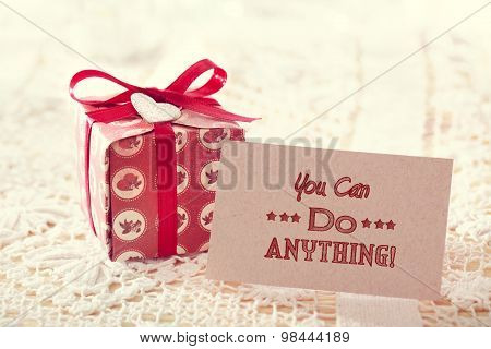 You Can Do Anything Gift Card With Present