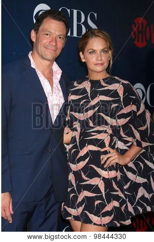 LOS ANGELES - AUG 10:  Dominic West, Ruth Wilson at the CBS TCA Summer 2015 Party at the Pacific Design Center on August 10, 2015 in West Hollywood, CA