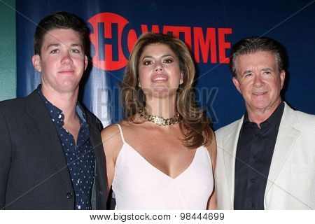 LOS ANGELES - AUG 10:  Alan Thicke, wife, son at the CBS TCA Summer 2015 Party at the Pacific Design Center on August 10, 2015 in West Hollywood, CA