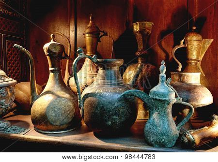 Antique Arabic Coffee Pot -DALLAH
