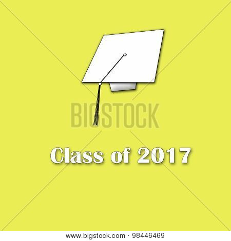 Class of 2017 White on Yellow Single Large