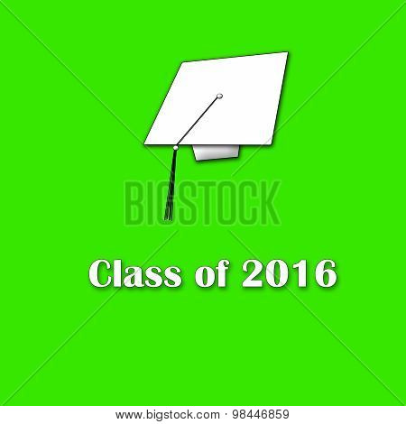 Class of 2016 White on Green Single Large