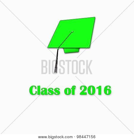 Class of 2016 Green on White Single Lg