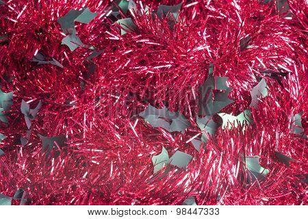 Red Tinsel Background