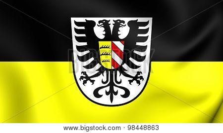 Flag Of Alb-donau-kreis, Germany.