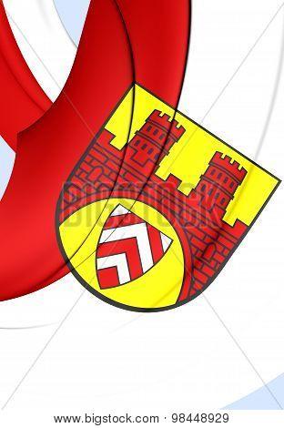 Flag Of Bielefeld City, Germany.
