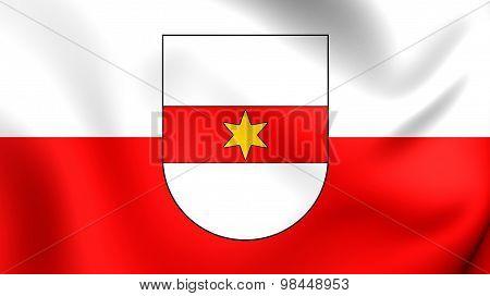 Flag Of Bolzano City, Italy.