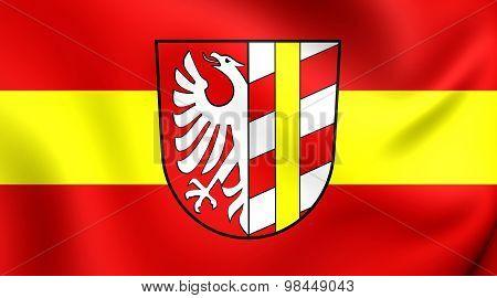 Flag Of Gunzburg Landkreis, Germany.