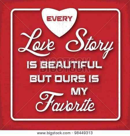 Love Story Red Poster
