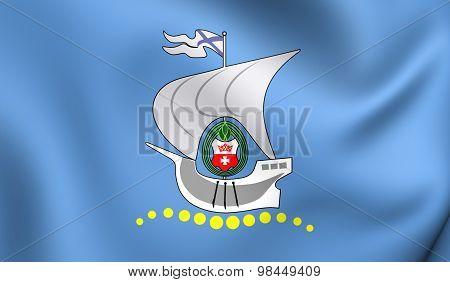 Flag Of Kaliningrad, Russia.