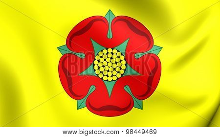 Flag Of Lancashire County, England.