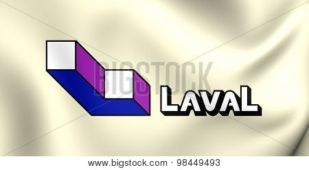 Flag Of Laval City, Canada.