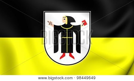 Flag Of Munchen City, Germany.