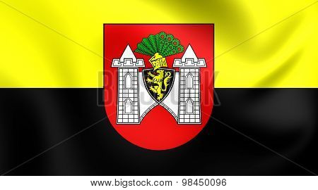 Flag Of Plauen City, Germany.