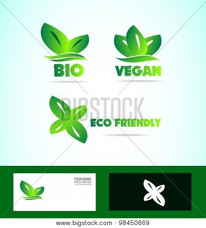 Bio Eco Friendly Vegan Logo
